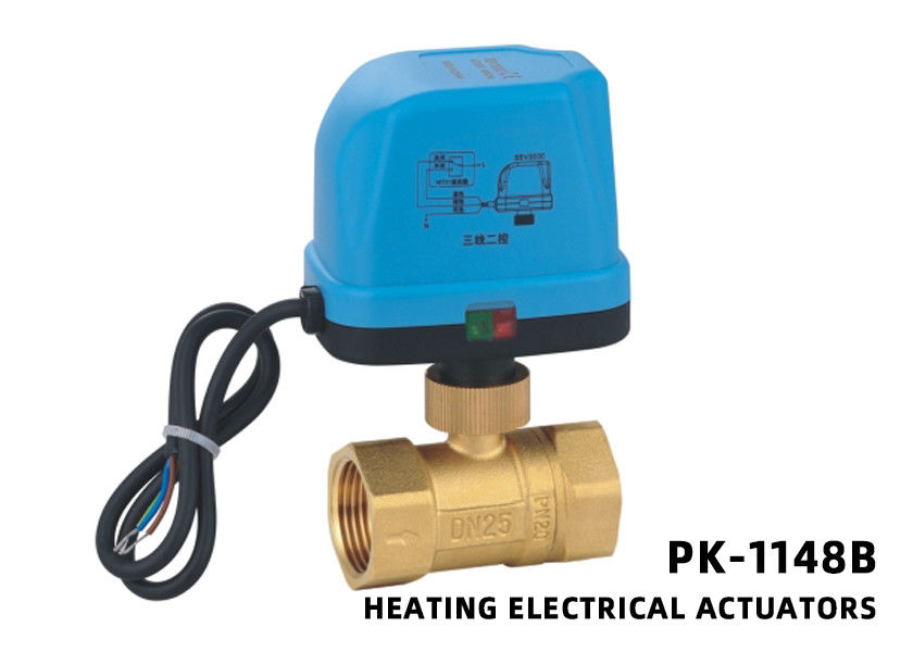 Actuated Brass Ball Valve , Electronic Control Ball Valve For Manifold Heating