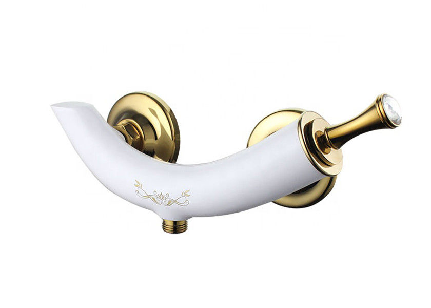 Bathroom Single Handle Bathroom Faucet White Resin Coated Finishing Taps